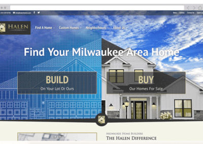 Halen Homes Website Redesign